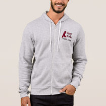 Sickle Cell Anemia Awareness Ribbon: Fight, Cure! Hoodie