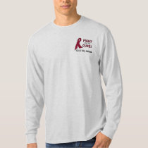 Sickle Cell Anemia Awareness Ribbon: Fight, Cure! T-Shirt