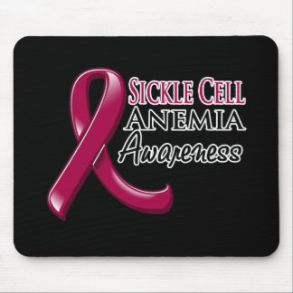 Sickle Cell Anemia Awareness Ribbon Mouse Pad