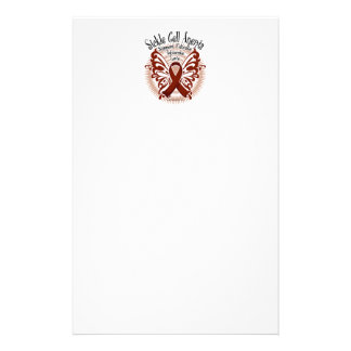 Sickle Cell Anemia Butterfly 3 Stationery