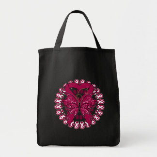 Sickle Cell Anemia Butterfly Cirlce of Ribbons Canvas Bags