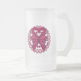 Sickle Cell Anemia Butterfly Cirlce of Ribbons Mug