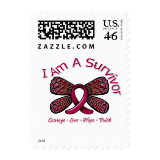 Sickle Cell Anemia Butterfly I Am A Survivor Postage Stamp