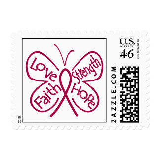 Sickle Cell Anemia Butterfly Inspiring Words Postage Stamp