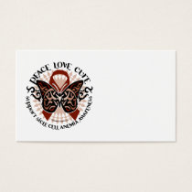Sickle Cell Anemia Butterfly Tribal Business Card