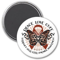 Sickle Cell Anemia Butterfly Tribal Magnet