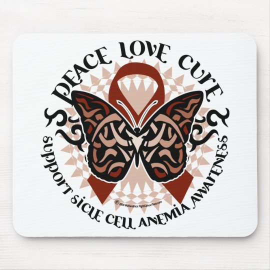 Sickle Cell Anemia Butterfly Tribal Mouse Pad
