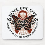 Sickle Cell Anemia Butterfly Tribal Mousepad