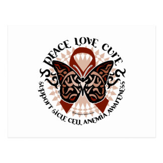 Sickle Cell Anemia Butterfly Tribal Postcard