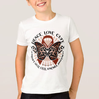 Sickle Cell Anemia Butterfly Tribal T-Shirt