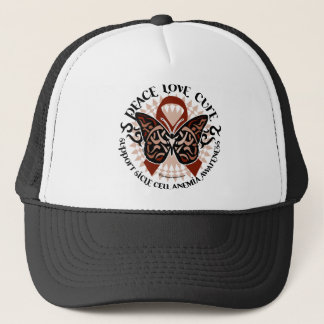 Sickle Cell Anemia Butterfly Tribal Trucker Hat