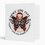 Sickle Cell Anemia Butterfly Tribal Vinyl Binders