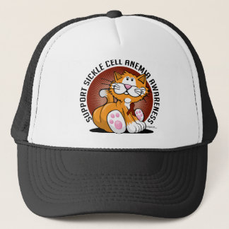 Sickle Cell Anemia Cat Trucker Hat