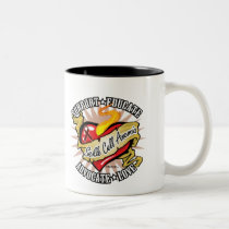 Sickle Cell Anemia Classic Heart Two-Tone Coffee Mug