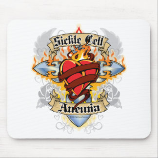 Sickle Cell Anemia Cross & Heart Mouse Pad