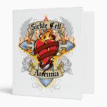 Sickle Cell Anemia Cross & Heart Vinyl Binder