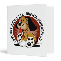 Sickle Cell Anemia Dog 3 Ring Binder