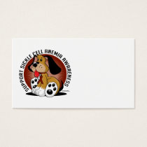 Sickle Cell Anemia Dog Business Card