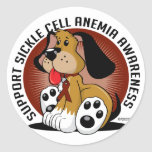 Sickle Cell Anemia Dog Classic Round Sticker