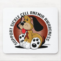 Sickle Cell Anemia Dog Mouse Pad
