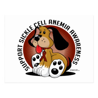 Sickle Cell Anemia Dog Postcard