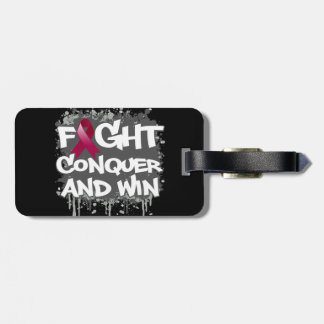 Sickle Cell Anemia Fight Conquer and Win Travel Bag Tag