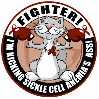 Sickle Cell Anemia Fighter Cat Cutout