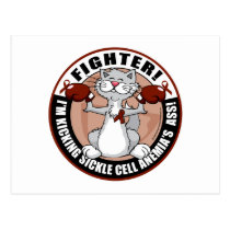 Sickle Cell Anemia Fighter Cat Postcard