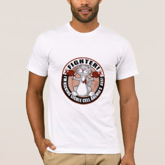 Sickle Cell Anemia Fighter Cat T-Shirt