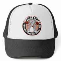 Sickle Cell Anemia Fighter Cat Trucker Hat