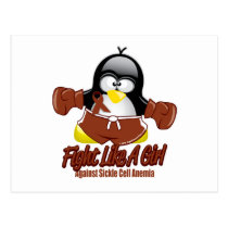 Sickle Cell Anemia Fighting Penguin Postcard