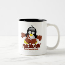Sickle Cell Anemia Fighting Penguin Two-Tone Coffee Mug