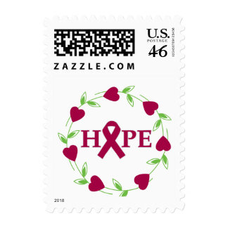 Sickle Cell Anemia Hearts of Hope Postage Stamp