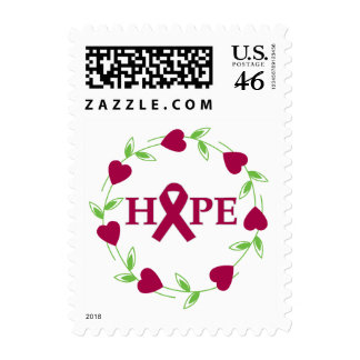Sickle Cell Anemia Hearts of Hope Postage Stamps