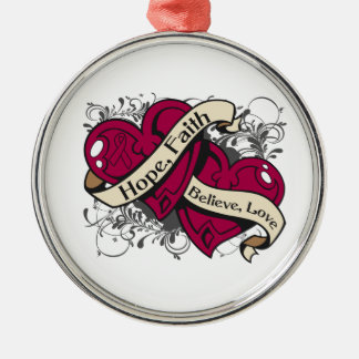 Sickle Cell Anemia Hope Faith Dual Hearts Ornaments