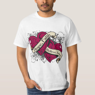 Sickle Cell Anemia Hope Faith Dual Hearts T-shirt