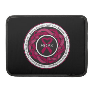 Sickle Cell Anemia Hope Intertwined Ribbon Sleeves For MacBooks