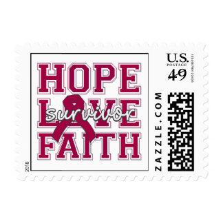 Sickle Cell Anemia Hope Love Faith Survivor Postage Stamps