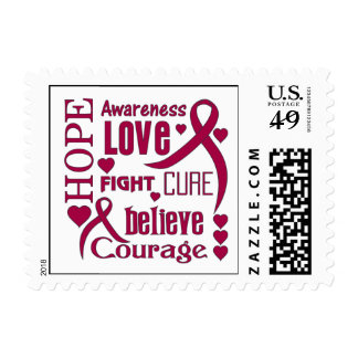 Sickle Cell Anemia Hope Words Collage Postage Stamp