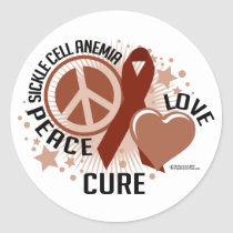 Sickle Cell Anemia PLC Classic Round Sticker