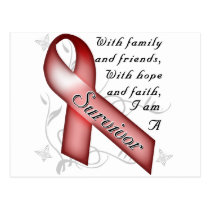 Sickle Cell Anemia Survivor Postcard