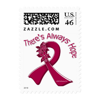 Sickle Cell Anemia There's Always Hope Floral Postage Stamp