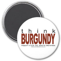 Sickle Cell Anemia THINK Burgundy Magnet