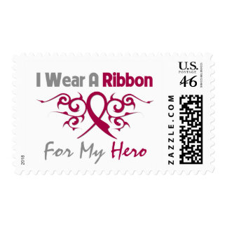 Sickle Cell Anemia Tribal Deco Ribbon Hero Postage Stamps