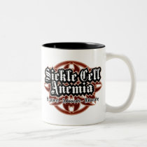 Sickle Cell Anemia Tribal Two-Tone Coffee Mug