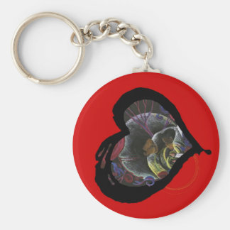 Sickle Cell Awareness Heart - Need not Suffer Keychains