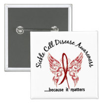 Sickle Cell Disease Butterfly 6.1 Pinback Button