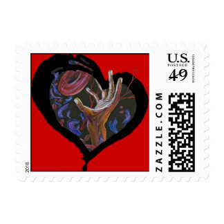 sickle cell hope-red postage