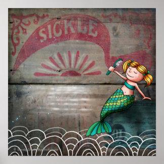 Sickle Mermaid Wall Art