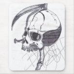 Sickle Skull Mousepad